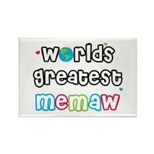 World's Greatest Memaw! Rectangle Magnet