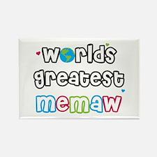 World's Greatest Memaw! Rectangle Magnet