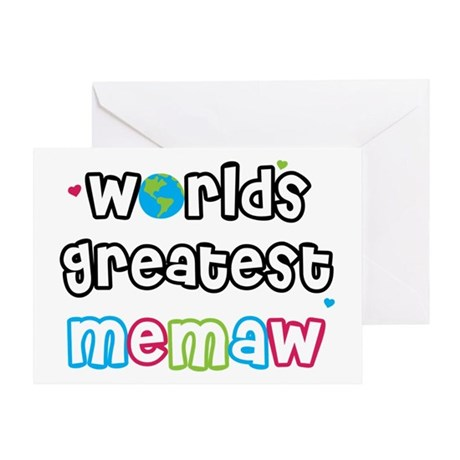 World's Greatest Memaw! Greeting Card