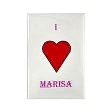 Heart Marisa Rectangle Magnet