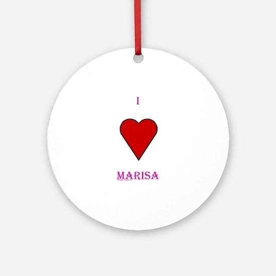 Heart Marisa Ornament (Round)