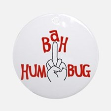bah humbug finger Christmas Ornament (Round)