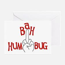 bah humbug finger Christmas Greeting Cards (Packag