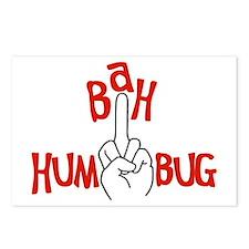 bah_humbug_finger_christmas_postcards_pa