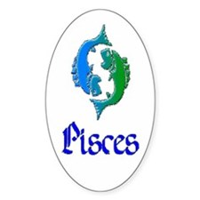 Pisces Oval Decal