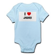 I LOVE JABARI Infant Creeper