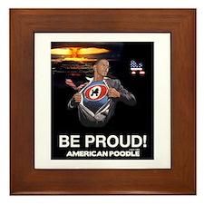 Funny Poodle patriotic Framed Tile