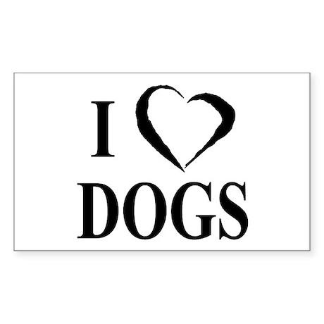 Dogs (B&W) Rectangle Sticker