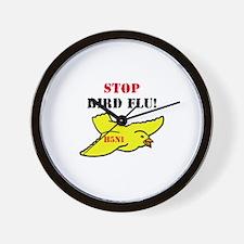 Stop Bird Flu Wall Clock