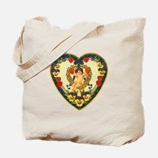 Hearts and Flowers Vintage Valentine Tote Bag
