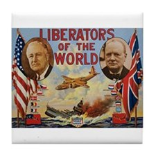 FDR & Churchill Tile Coaster