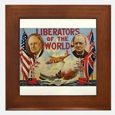 FDR & Churchill Framed Tile