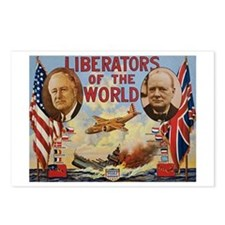 FDR & Churchill Postcards (Package of 8)