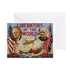 FDR & Churchill Greeting Card