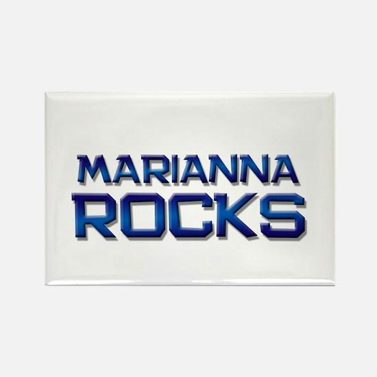 marianna rocks Rectangle Magnet