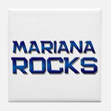 mariana rocks Tile Coaster