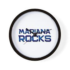 mariana rocks Wall Clock