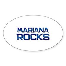 mariana rocks Oval Decal