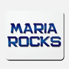 maria rocks Mousepad