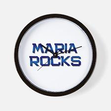 maria rocks Wall Clock