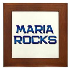 maria rocks Framed Tile