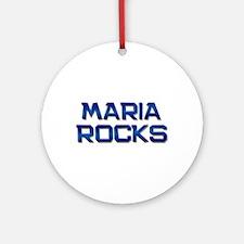 maria rocks Ornament (Round)