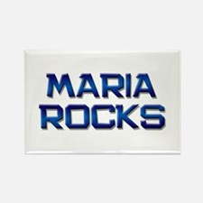maria rocks Rectangle Magnet