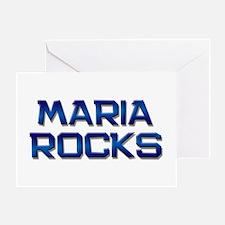maria rocks Greeting Card
