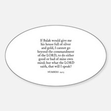 NUMBERS 24:13 Oval Decal