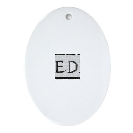 Snow board Oval Ornament