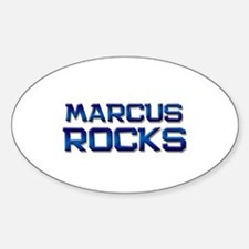 marcus rocks Oval Decal