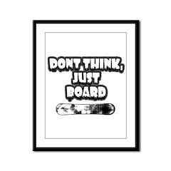 Snow Board Framed Panel Print