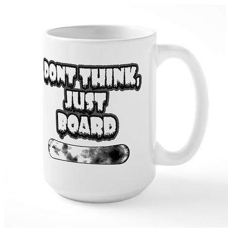Snow board Large Mug