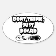 Snow Board Oval Decal