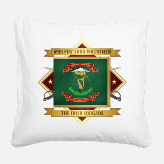 69th NY Volunteer Infantry Square Canvas Pillow