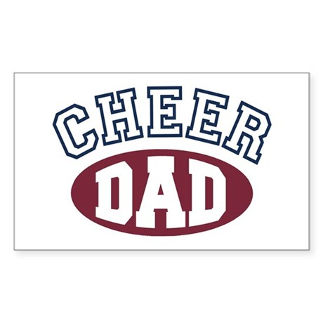 Cheer Dad Rectangle Sticker