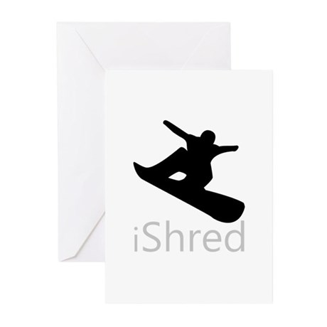 Snow Board Greeting Cards (Pk of 10)