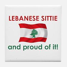 Proud Lebanese Sittie (Grandma) Tile Coaster