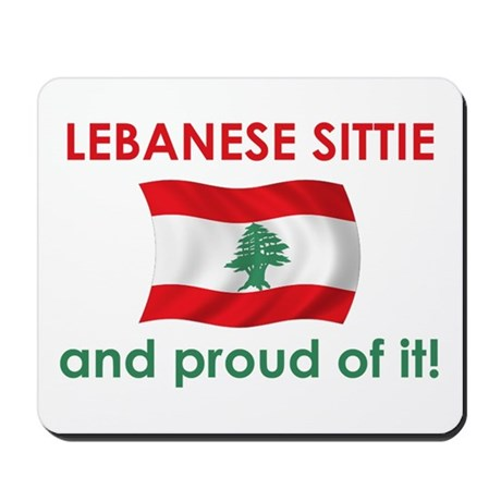 Proud Lebanese Sittie (Grandma) Mousepad