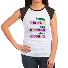 Funny Bachelorette Drinking Women's Cap Sleeve T-S