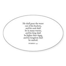 NUMBERS 24:7 Oval Decal
