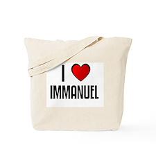 I LOVE IMMANUEL Tote Bag