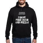 Free Beer And Pizza Hoodie (dark)