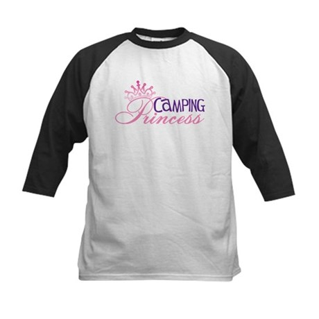 CAMPING PRINCESS Kids Baseball Jersey