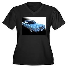 Lincoln TownCar Women's Plus Size V-Neck Dark T-Sh