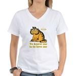 To Know Me Is To Love Me Women's V-Neck T-Shirt