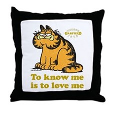 To Know Me Is To Love Me Throw Pillow