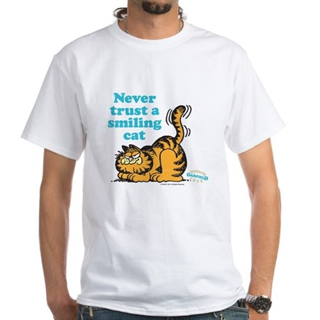 Smiling Cat White T-Shirt