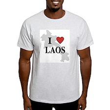 I Love Laos Ash Grey T-Shirt