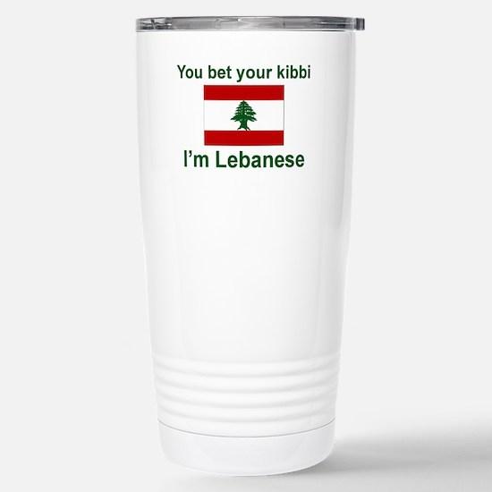 Lebanese Kibbi Stainless Steel Travel Mug